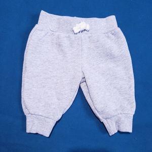 3M Carter's Grey Joggers Knit fabric